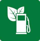 green gas station icon
