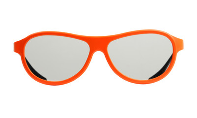 Orange eyeglasses