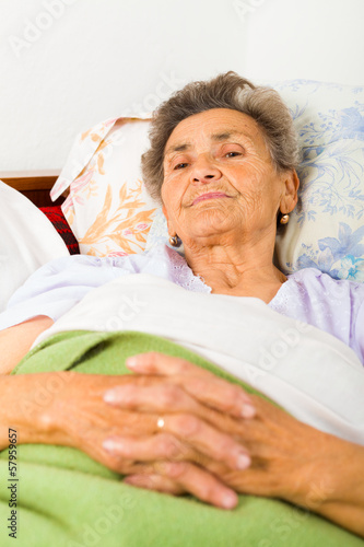Elderly Lady Praying