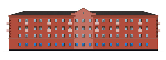 The facade of the building. Vector