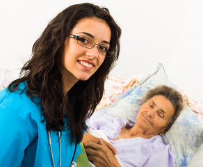 Nurse Caring for Elder Patients