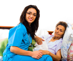 Helpful Nurses with Patients