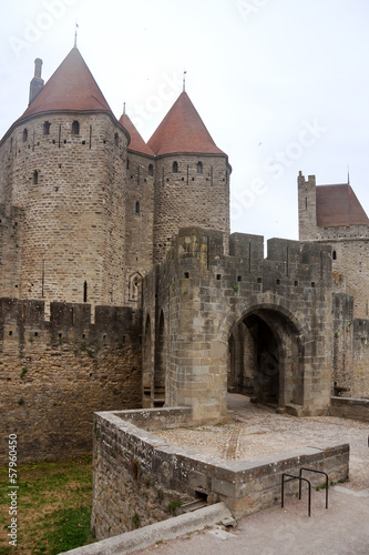 Fortress of Carcassonne in southern France
