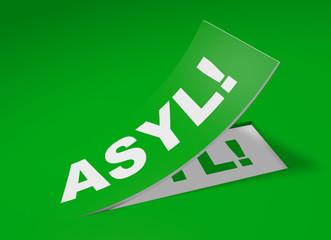 3D Etikett Grün - Asyl