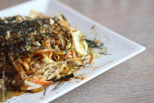 Japanese cuisine, frid noodles Yakisoba