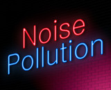 Noise pollution concept.