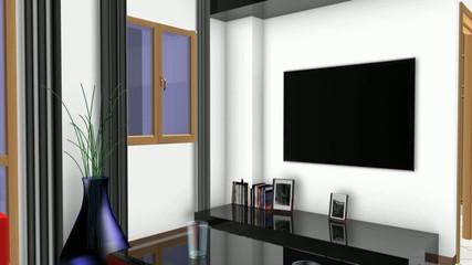 Rendering 3d progetto, interni, Appartamento, sala, bagno