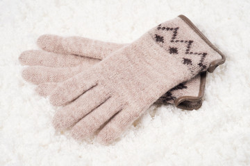 Womens woolen gloves