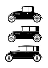 Set of veteran cars
