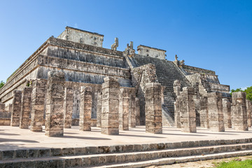 Temple of Warriors in Chichen Itza complex, Yucatan, Mexico