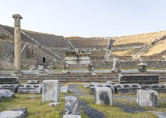 Asclepeion ancient city in Pergamon, Selcuk-Turkey.