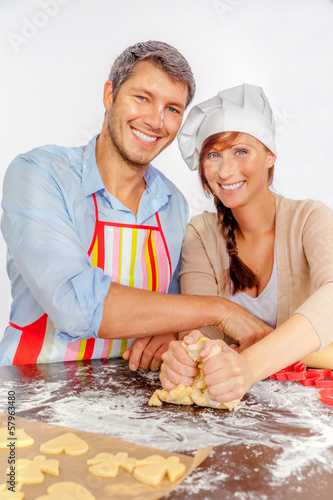 xmas baking couple