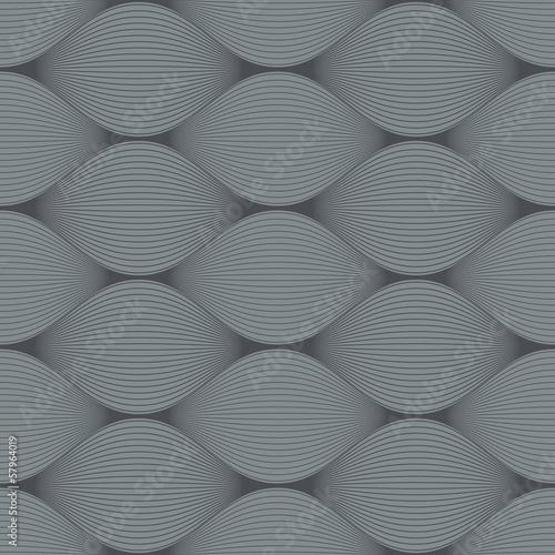 Seamless grey bulge illusion vector pattern. - 57964019