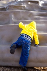 Toddler on a playground