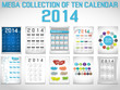 MEGA COLLECTION OF TEN CALENDAR 2014