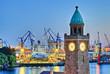 Leinwanddruck Bild - Hamburg Hafen Werft