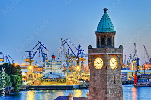 Leinwanddruck Bild Hamburg Hafen Werft