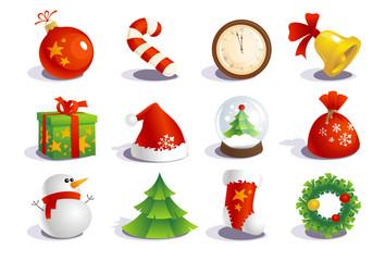 New year traditional symbols.