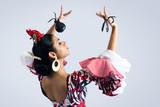 Fototapety Flamenco dancer in beautiful dress