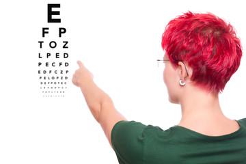 Sehtest beim Augen Arzt