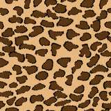 Brown Leopard Print Textured Fabric Background
