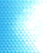 Abstract geometric background with blue mosaic triangles
