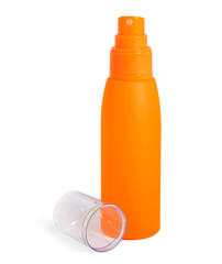 Bottle with suntan cream