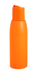 Orange bottle with suntan cream