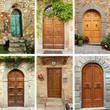 vintage door wallpaper, Tuscany