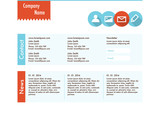 Web site template in flat design