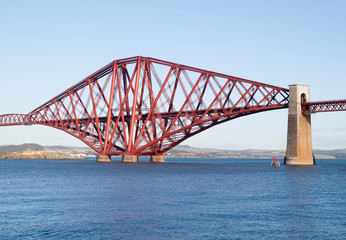 Forth rail bridge in Edinburgh