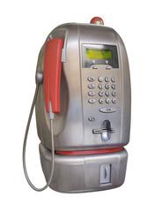 Public pay telephone, isolated on white