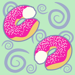 pattern with donuts
