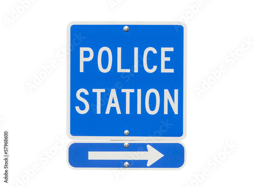 Police Station Sign Isolated