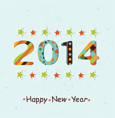 Stylized Happy New Year 2014 background