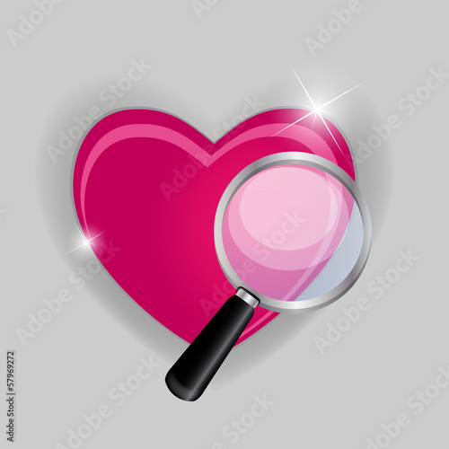 Find your love symbol vector illustration