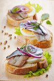 sandwich with egg and anchovies