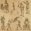 Soldiers, Warriors and Heroes (no.2) - Hand drawn illustrations