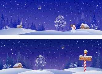 Christmas night banners
