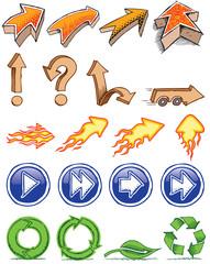 doodle arrow set