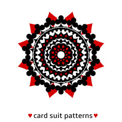 Card suit conceptual ornament