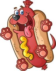 Hot Dog Pet Cartoon Character