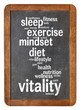 canvas print picture - vitality  word cloud on blackboard
