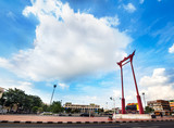 Giant Swing & City Hall,Landmark of Bangkok,Thailand