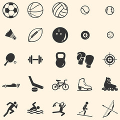 vector set of 25 sport icons