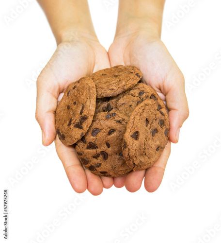 Female Hands Offering Cookies