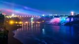 Fototapety Niagara Falls During Evening Lights