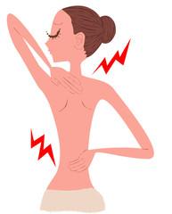 女性 腰痛 肩こり