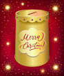 Universal holiday moneybox tin can