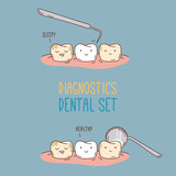 Comics about dental diagnostics and treatment